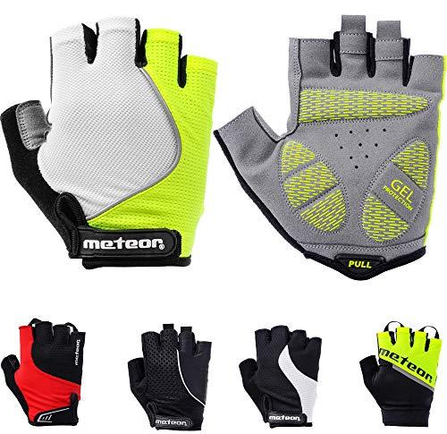 meteor radhandschuhe MTB Handschuhe Herren Gel Green fahrradhandschuhe Mountainbike Handschuhe Radsport Handschuhe Damen - Radsporthandschuhe Downhill Wandern Fahrrad Handschuhe Kinder