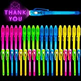 36Pcs Invisible Ink Pen Latest Spy Pen with UV Black Light Magic Marker Spy Pens Secret Message for Valentines Day Birthday Gift Classroom Exchange Party Favor for Boys Girls Kids(2 Style)