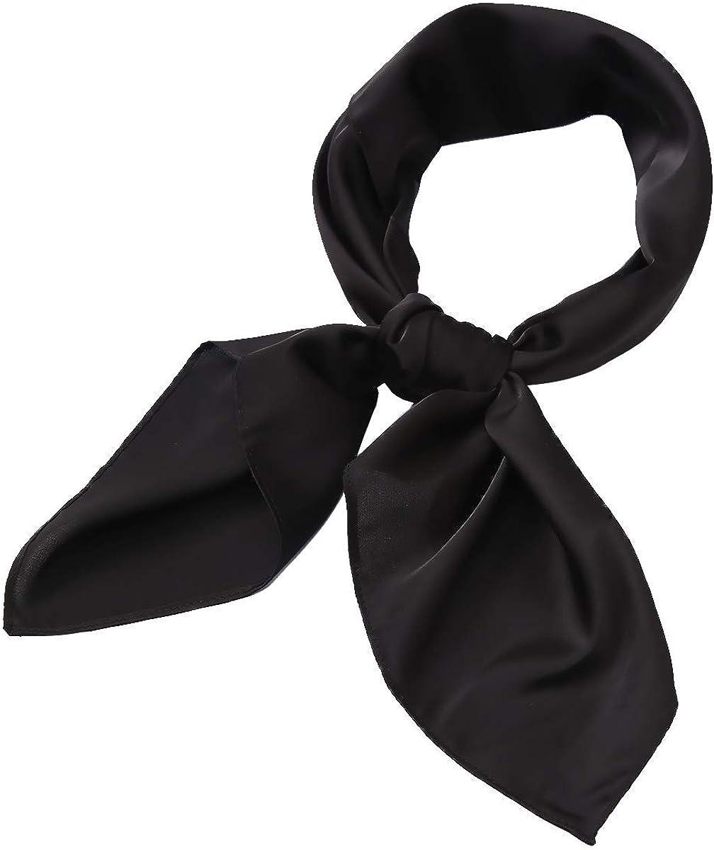 AOLIGE Scarf Satin Square Neck hair scarfs for Women 27