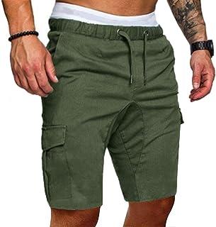 00ca8c3ad1ee ReooLy Pantalone Sportivo da Uomo in Puro Colore con Fasciatura Casual  Pantalone Sportivo Allentato con Coulisse