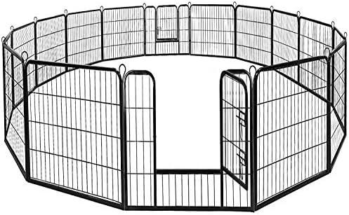 BestPet Dog Pen Extra Large Indoor Outdoor Dog Fence Playpen Heavy Duty 16 8 Panels 24 32 40 product image