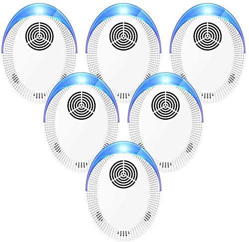 Bocianelli Ultrasonic Pest Repeller 6 Pack, Pest Control Set of Electronic Plug in Indoor for Pests