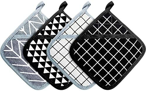 Large Cotton Pot Holders Oven Mitts Set Heat Resistant Pot Holders Square Pot Holder for Kitchen product image
