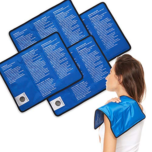 4 Pack Reusable Hot and Cold Gel Ice Packs for Injuries | Cold Compress Ice Pack Gel Ice Packs Cold Pack Gel ice Pack Cold Packs for Injuries | 11x145 in