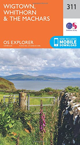 OS Explorer Map 311 Wigtown Whithorn and the Machars OS Explorer Paper Map