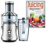 Breville BJE530BSS the Juice Fountain Cold Plus Bundle with Juicing for Beginners: The Essential Guide to Juicing Recipes and Juicing for Weight Loss - Brushed Stainless Steel