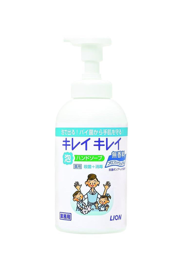 プラスチック組み合わせる唯一【大容量】キレイキレイ 薬用泡ハンドソープ プロ無香料550mL