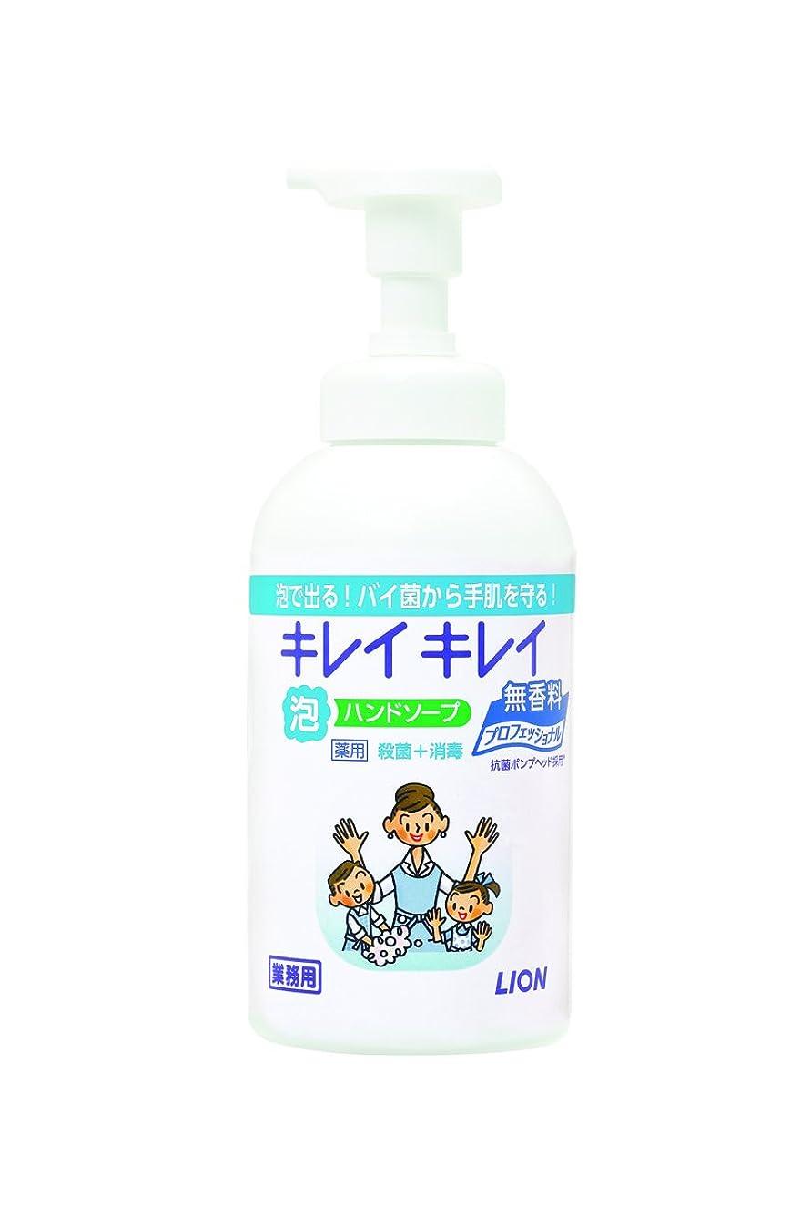 異形要求する奨励【大容量】キレイキレイ 薬用泡ハンドソープ プロ無香料550mL