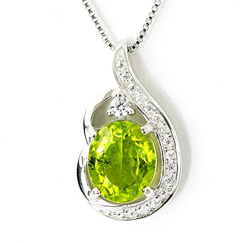 One&Only Jewellery 【鑑別書付】 一生物 超大粒 5ct 天然 ペリドット K18GP ペンダント ネックレス 8月誕生石