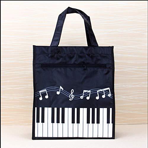 Personalisierte Musik Schultasche Klaviertaste Musiktasche Tragbare Aktentasche TräGer A4 Buch Tasche Tutorial Tasche 31,5 * 28,5 * 11 Cm