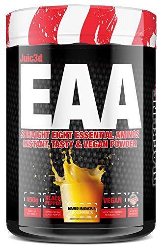 #sinob - Juic3d EAA. Extrem Lecker, Sofort Löslich & Vegan. 8 Essentielle Aminosäuren In Reinform. 1 x 450g (Mango Maracuja)