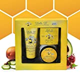 BELLA B 3-Piece Gift Set - Pregnancy Gifts For First Time Moms - Pregnant Mom Gifts - Mom To Be Gifts - Pregnancy Gift Basket - Sitz Bath Soak - Honey Tummy Butter - Silk And Honey Moisturizing Cream