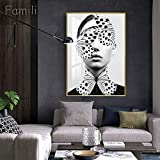 JXFFF Pintado a Mano (20x25cm Sin Marco) Pintura Abstracta de Paisaje de Mujer por números Mujer Africana para niños, Estudiantes, Adultos Principiante Set de Regalo, con Pincel y Pintura acríli