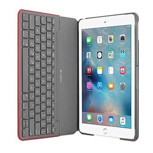 Logitech Funda con Teclado Canvas iPad Air 2 (Mars Red Orange)