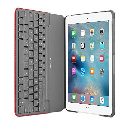 Logitech Funda con Teclado Canvas iPad Air 2 (Mars Red...