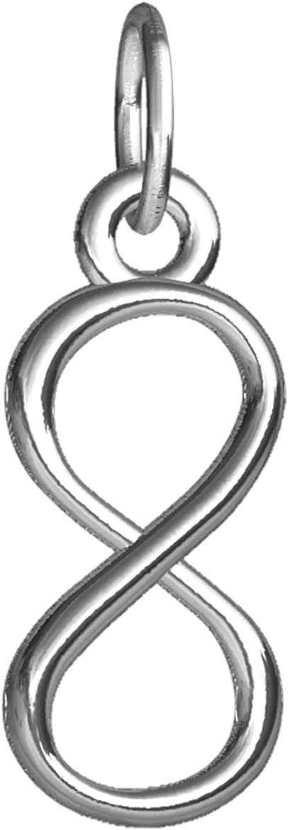 Small Infinity Symbol Charm Silver San Antonio Mall Sterling in Oakland Mall
