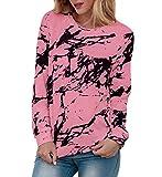 HenzWorld Camiseta de Manga Larga para Mujer con Diseño de