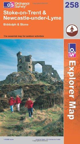 OS Explorer map 258 : Stoke-on-Trent & Newcastle-under-Lyme