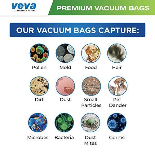 VEVA 30 Pack Premium SuperVac Vacuum Bags Style CC Work with Oreck Type CC Hypo-Allergenic Model XL5, XL7, XL21, 2000, 3000, 4000, 7000, 8000, 9000