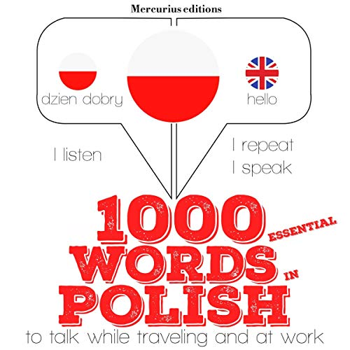 1000 essential words in Polish audiobook cover art