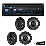 Alpine UTE-73BT Bluetooth Receiver (No CD), and Two Pairs of Kicker 43CSC654 6.5' Coaxial Speakers