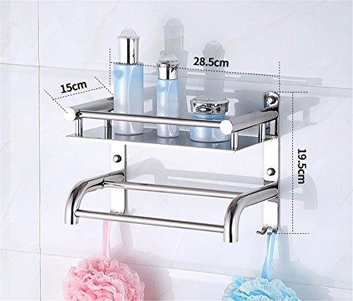 MBYW moderne minimalistische hoge dragende handdoek rek badkamer handdoekenrek Roestvrijstaal badkamer plank handdoek rek badkamer hanger 30cm Geschikt voor badkamer, slaapkamer