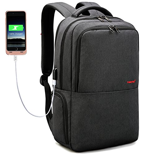 LAPACKER Travel 15.6 inch Business Lightweight Backpack for Laptop with USB Charging Port, Durable...