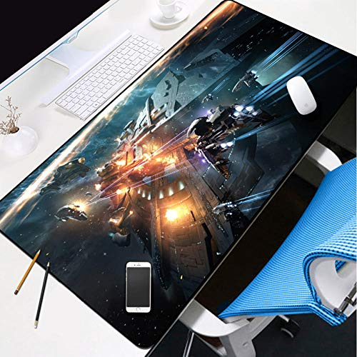 ROZEIP XL Large Gaming Mouse Pad Cosmic Star Wars 27.5x11.8in with Non-Slip Base Waterproof and Foldable Pad,Desktop Pad Suitable for Gamers,Suitable for Work,Office and Home