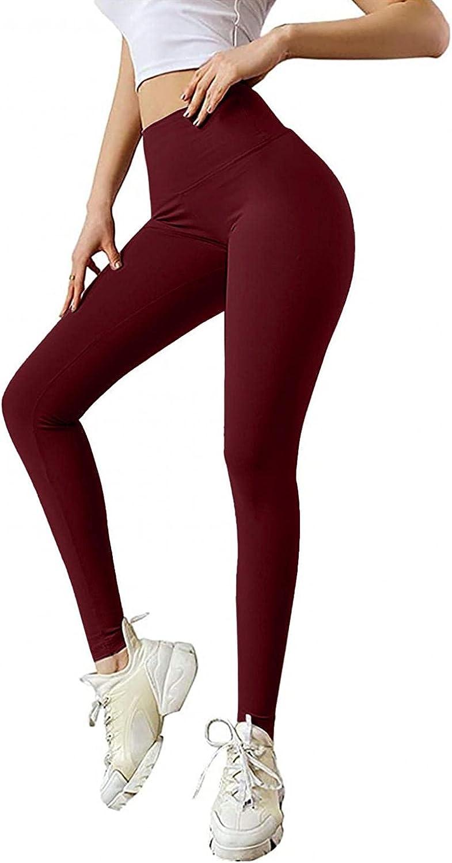 WOSHUAI TIK Tok High Waist Hip Leggings TIK Tok Gym Athletic Tummy Control Stretch Pants for Mens Womens