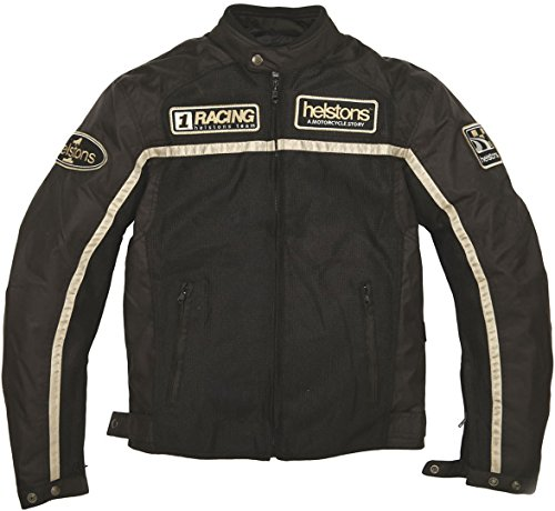Helstons Motorradjacke mit Protektoren Motorrad Jacke Textiljacke Mesh schwarz XXL, Herren, Chopper/Cruiser, Ganzjährig