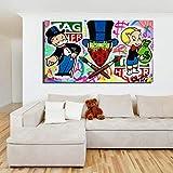 DHLHL Alec Monopolies Tag Heuer Art Canvas Poster Pintura al óleo Imagen de la Pared Impresión de la decoración del Dormitorio del hogar Moderno Obra de Arte 50x100cm Sin Marco