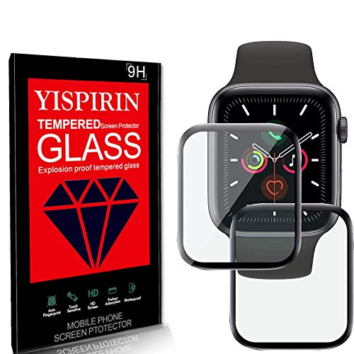 YISPIRIN (2 Pack)3D Full Glue Acrylic Glass (PMMA) Screen Protector, compatible with Apple Watch Sereies 6 44mm
