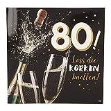 Depesche 3868.040tarjeta de felicitación con música, 80. Cumpleaños, multicolor , color/modelo surtido