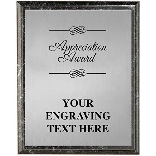 Crown Awards Corporate Appreciation Plaques - 8 x 10 Appreciation Award Etched Recognition Trophy Plaque Award Prime