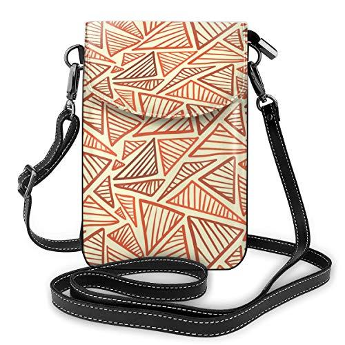 Damen Handtasche mit verstellbarem Riemen für den täglichen Gebrauch, Terra Cotta, dreieckig, klein, aus PU-Leder