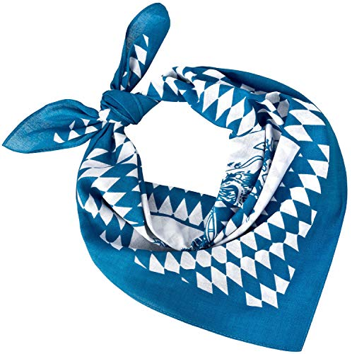 Tobeni 548 Damen Herren Nickituch Kopftuch Bandana Halstuch Baumwolle Unisex Farbe Bayern Wappen Klein Grösse 54 cm x 54 cm