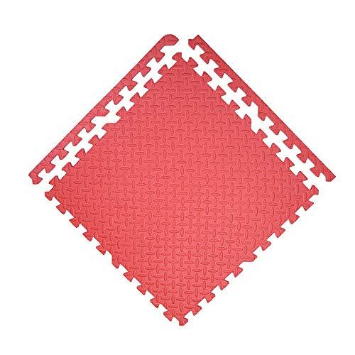 QFFL Puzzlematte Schaum-Spiel-Matte, 9 Stück Interlocking Puzzle Boden Fliese Spiele Gymnastikmatte mit Grenze Crawling-Matte für Kinderspielzimmer Schlafzimmer Wohnzimmer Bereich Teppich Teppich-9 Fa