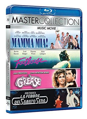 Music Collection [Blu-Ray] Mamma Mia! Footloose, Grease, Saturday Night Fever (Import, Deutscher Ton)