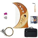 strumento di listino for principianti, 19 corde in legno massello di legno chitarra con sacchetto di trasporto, kit di strumenti di clavicembalo for adulti, capretto strumenti musicali harp harp