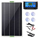 Dongzhur Solar Panel Kit, 20W 12V Monocrystalline Battery Charger & Maintainer with 10A Charge Controller + Extension Cable for RV...