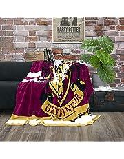 Character World, Harry Potter Gryffindor gosig fleecefilt, 160 x 200 cm, Hogwarts skola, stort överkast