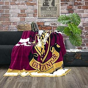 Character World Manta de forro polar de Harry Potter de Gryffindor, 150 x 200 cm 15