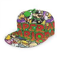 スーパーマリオ Super Mario (4) ベースボール キャップ野球帽 帽子 アンダーテール キャラ カジュアル スポーツ キャップ 紫外線対策 日よけ 平ひさし帽 登山 釣り ゴルフ 運転 アウトドアなどに 男女兼用
