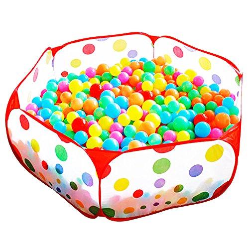 TININNA Enfants Pop Up Ball Pool Toddler Bébé Tente de Jeu Pliable Sea Ball Pool Piscine Portable Ball Pit Pit -Ballets Non Inclus 1M