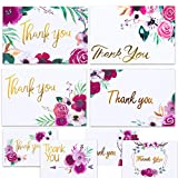 Boho Floral Thank You Cards for Designer Thank You Notes! Bulk Set of 48 Blank Cards with Envelopes for Baby Shower Note Cards, Wedding Thank You Cards and Bridal Shower Thankyou Card