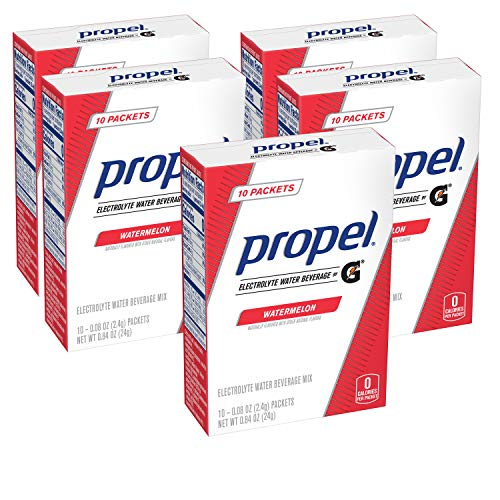 Propel Powder Packets Watermelon with Electrolytes Vitamins and No Sugar, 50 Count