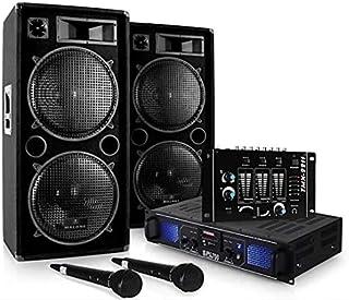 """DJ Set DJ-20.1"""" - Pack Sono Pro, Set Sono, Set Enceintes, Table de mixage, Amplificateur PA, Subwoofers Basses 12"""", 2000 ..."""