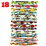 Tomkity 18 Pezzi Multicolore Ghirlande Fasce del Fiori con Nastro Elastico Regolabile per ...