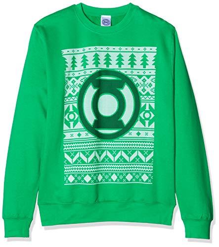 Cid Green Lantern-Fair Isle Logo, Sweat-Shirt Homme, XL