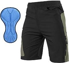 TOMSHOO MTB-broek voor heren, met 3D-zeem, fietsbroek, kort, fietsbroek, sneldrogend, ademend
